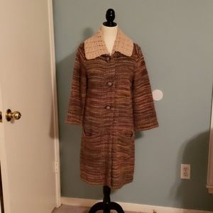 Beautiful vintage knit coat from Anthropologie